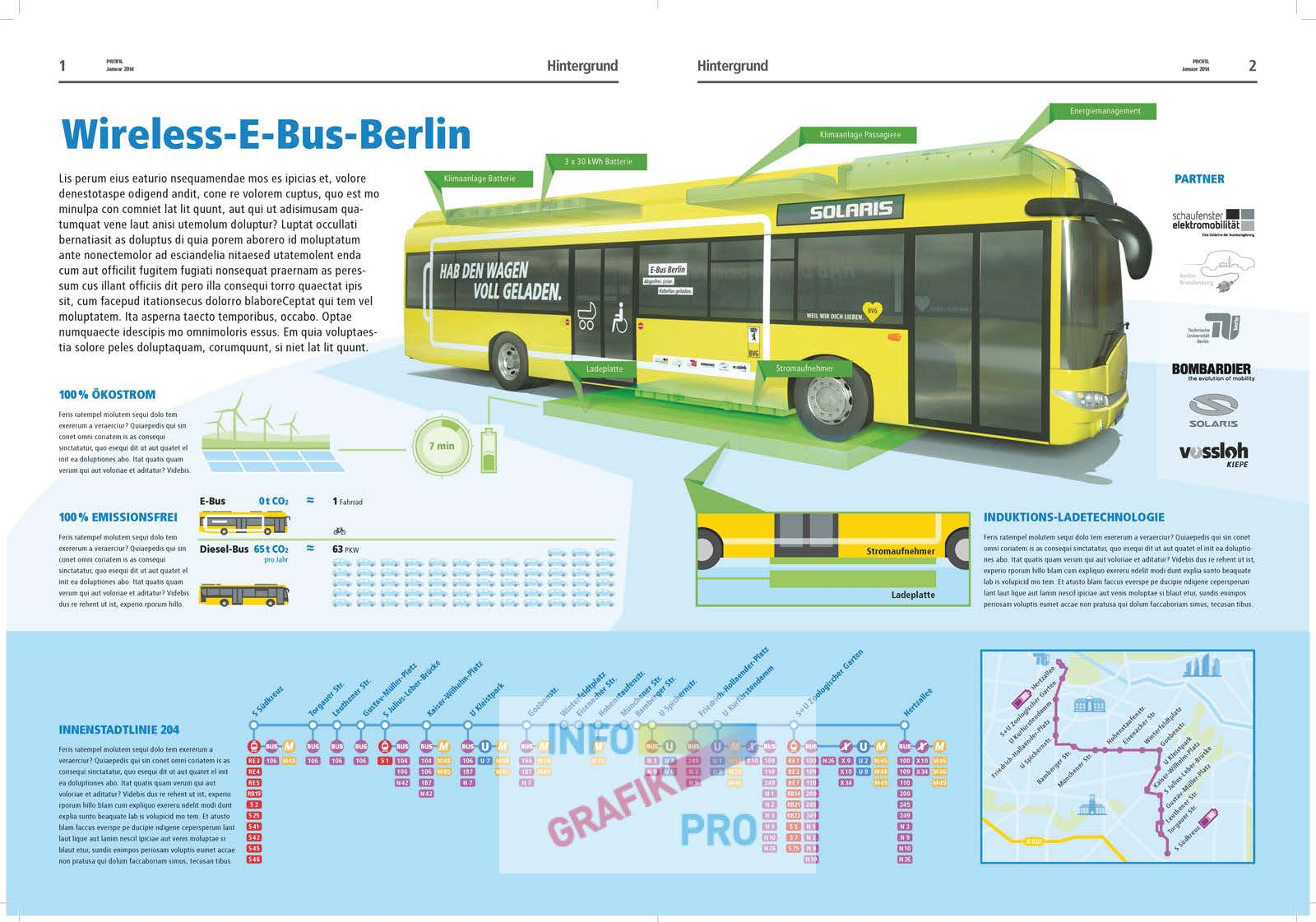 illustrative Infographic E-Bus